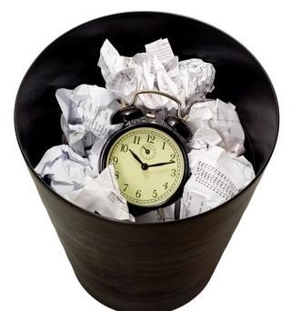 waste bin clock